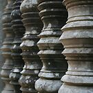 Columns at Ankor Wat, Cambodia by Leigh Penfold