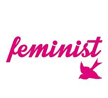 Pink and White Sparrow Feminist Desgin by hellosailortees