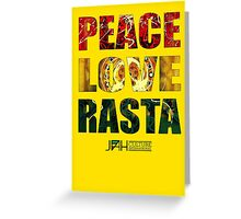Peace Love Rasta Greeting Card