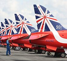 Red Arrows by Caroline Smalley