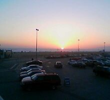 Sunset On the Santa Monica Beach by ArtJr2