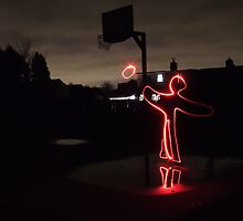 man playing basketball by hannah4519