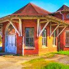 Marshallville, Georgia Train Depot by Mark Tisdale