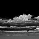 Man and the Sea, black and white by Ben Kelly