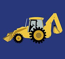 Construction Backhoe Digger by JessDesigns