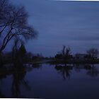 Nightfall on the Forebay by Jerry Stewart
