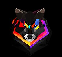 Colorful Wolf Design  by zeeshanahmad88