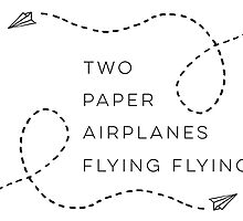 Two paper airplanes flying flying by ScienceFaithRB