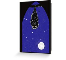 Bat in the Window Greeting Card