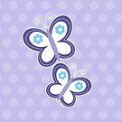 Girly Butterflies Purple Butterfly Dot by JessDesigns