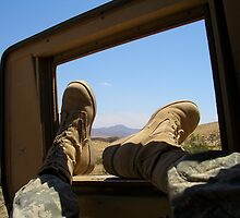 Relaxing in the Mojave by Justin Shaffer