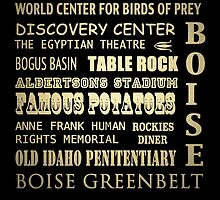 Boise Idaho Famous Landmarks by Patricia Lintner