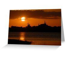 """Majic Kingdom Sunset"" Greeting Card"