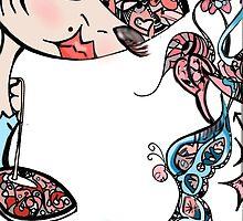Primavera , Doll Illustration  by elizabethforero