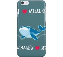 love whales iPhone Case/Skin
