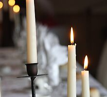 Candles at Dinner by MichelleRees