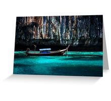 Longboat off Phi Phi Island Greeting Card