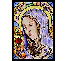 Holy Mother Stained Glass Photographic Print