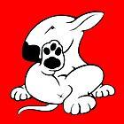 English Bull Terrier Kicking Back  by Sookiesooker