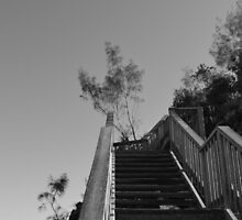 Stairway to the pass by Chris Hinde