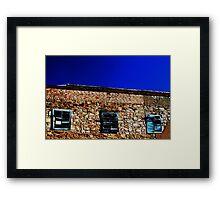 Shutters Of Blue Framed Print
