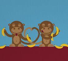Monkeys in love by notDaisy