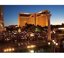 The Mirage in Vegas by Night Photographic Print