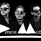 Depeche Mode : Fletch, Martin, Dave with welding glass (3) by Luc Lambert