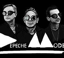 Depeche Mode : Fletch, Martin, Dave with welding glass (3) by Luc Lambert