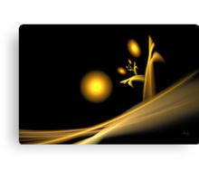 Dawn on Desolation - card Canvas Print