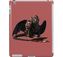 toothless with hiccup iPad Case/Skin