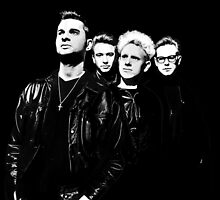Depeche Mode : 90's Dave, Alan, Martin, Andy Digitalpaint Cutout by Luc Lambert