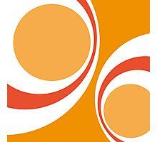 orange retro Photographic Print