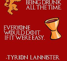 Drunk Tyrion Lannister by OuroborosEnt