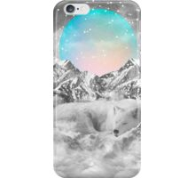 Put Your Thoughts To Sleep (Peaceful Moon / Wolf Spirit) iPhone Case/Skin