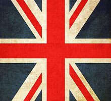 Vintage Grunge Union Jack Flag by sale