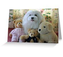 """Snowdrop the Maltese - ""Say Cheese Everyone"" ! Greeting Card"
