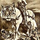 Sepia Study 24 Joan of Arc. by - nawroski -