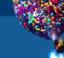 Up Balloon House Print by Colin Bradley