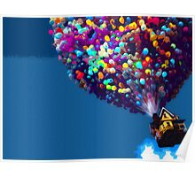 Up Balloon House Print Poster