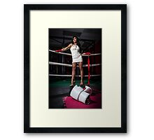 Sexy In The Ring Framed Print
