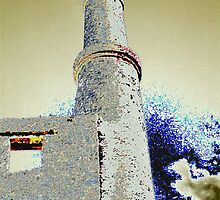 long redundant Cornish Copper mine engine house by WilliamtheIVth