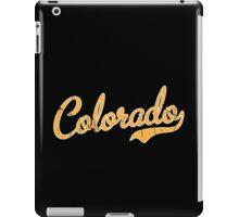 Colorado Script Font VINTAGE Gold iPad Case/Skin