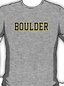 Boulder Jersey Script  T-Shirt