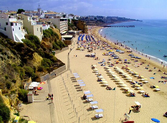 Albufeira Beach III by Tom Gomez