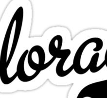 Colorado Script Black Sticker