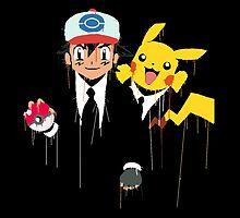 Ash & Pikachu cool by GamersTshirts