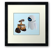 Wall-E & Eva Framed Print