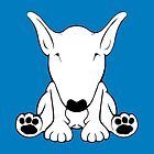 English Bull Terrier Forward Sit 2 by Sookiesooker