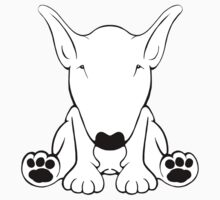 English Bull Terrier Forward Sit 2 Kids Clothes